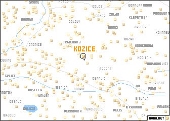 map of Kozice