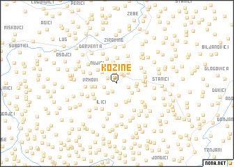 map of Kozine