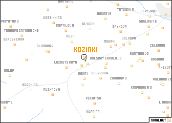 map of Kozinki