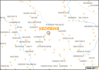 map of Kozinovka