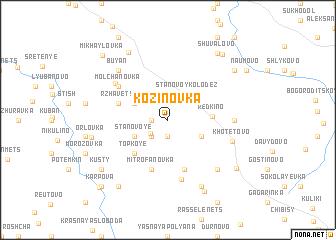 map of Kozinovka
