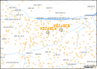 map of Kozjača