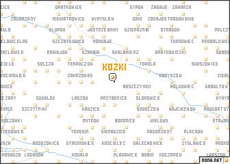 map of Kózki