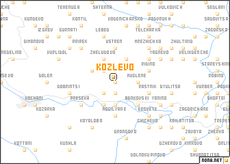 map of Kozlevo