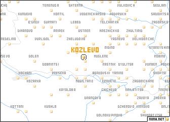 map of Kozlevo