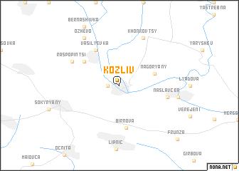 map of Kozliv