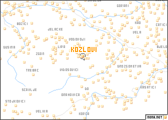 map of Kozlovi