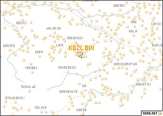 map of Kozlovi