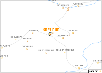 map of Kozlovo