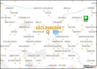 map of Kozłowa Góra