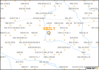 map of Kozły