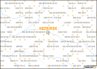 map of Koźminek