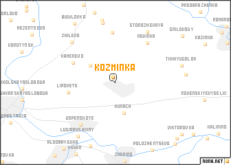 map of Koz\