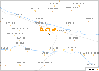 map of Kozyrëvo