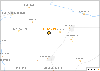 map of Kozyri