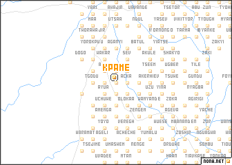 map of Kpame
