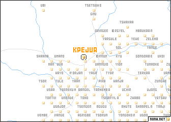 map of Kpejua