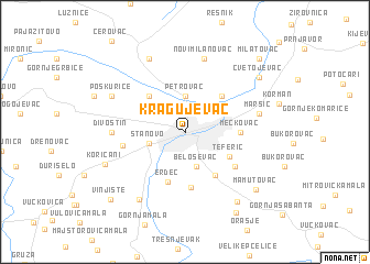 Kragujevac Serbia and Montenegro map nonanet