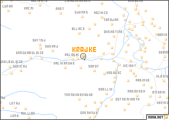 map of Krajkë