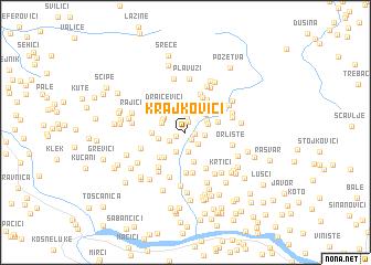 map of Krajkovići