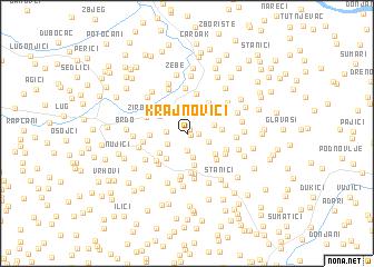 map of Krajnovići