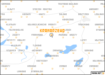 map of Kramarzewo