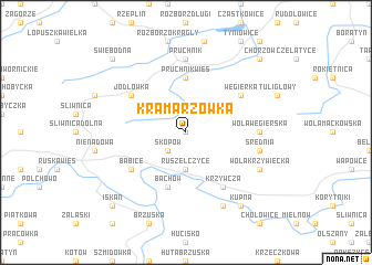 map of Kramarzówka