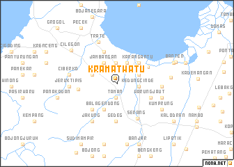map of Kramatwatu