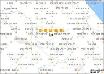 map of Kranenweide