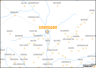 map of Kranggan