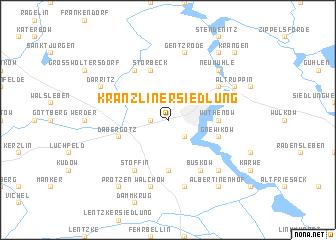 map of Kränzliner Siedlung