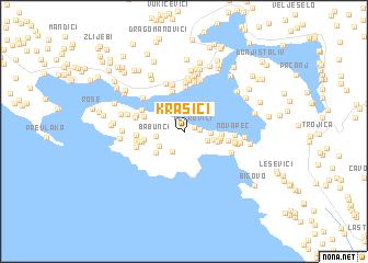 krasici crna gora mapa Krasići (Serbia and Montenegro) map   nona.net krasici crna gora mapa