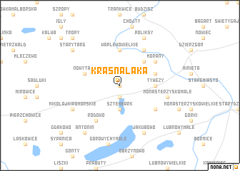 map of Krasna Łąka