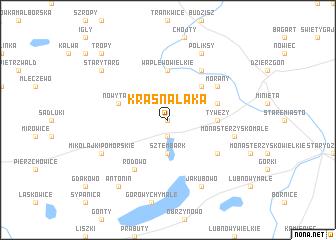 map of Krasna Łąka