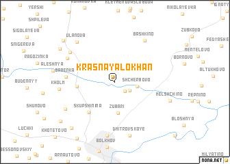 map of Krasnaya Lokhan\