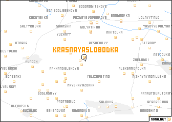 map of Krasnaya Slobodka
