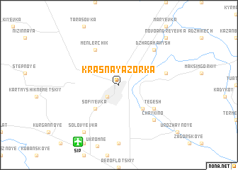 map of Krasnaya Zor'ka