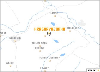 map of Krasnaya Zor\