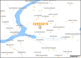 map of Krasnaya