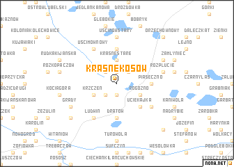 map of Krasne Kosów