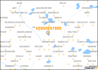 map of Krasne Stare