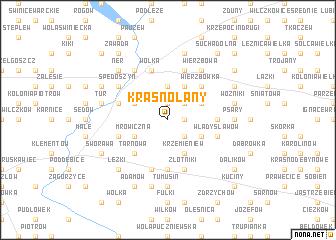 map of Krasnołany