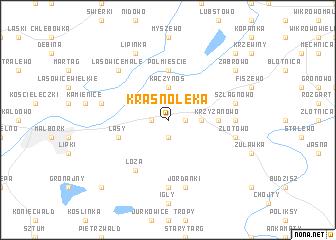 map of Krasnołęka