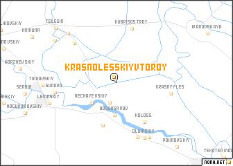 map of Krasnolesskiy Vtoroy