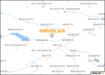 map of Krasnoluka