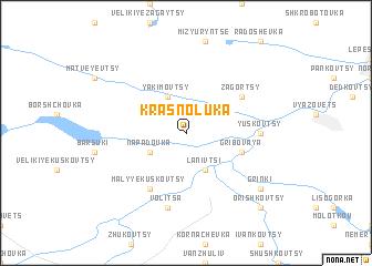 map of Krasnoluka