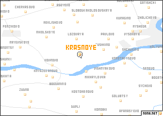 map of Krasnoye