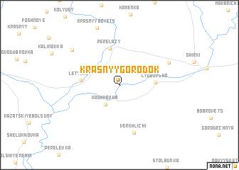 map of Krasnyy Gorodok