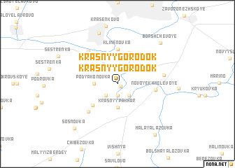 map of Krasnyy Gorodok