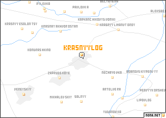 map of Krasnyy Log